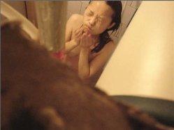 Cute Chinese Girl on bathroom