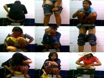 Thailand toilet Peeping spycam
