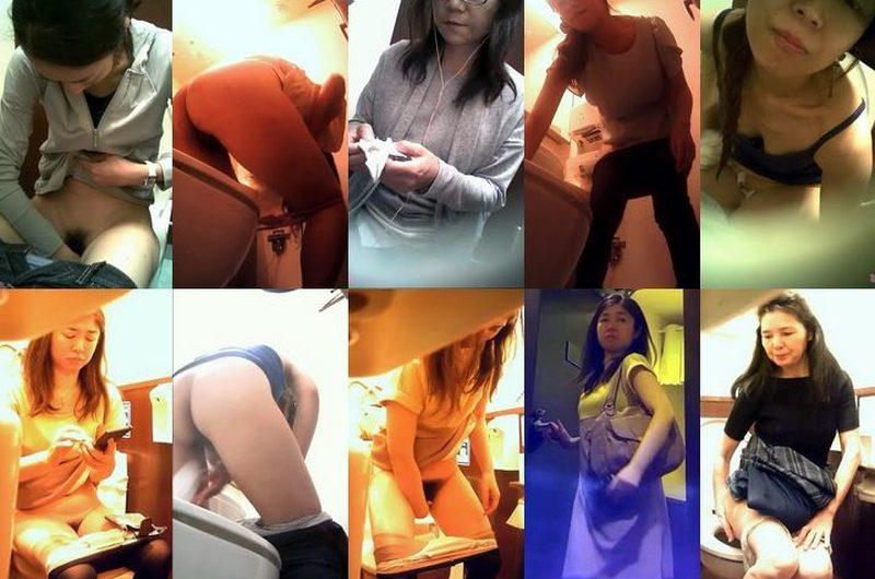 美熟女トイレ(14)ベストセレクション美女たちの個室内での秘め事を正面から堂々と覗いてください全9名