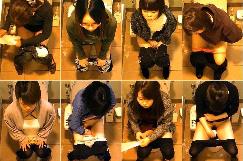 女性たちの洋式トイレ2